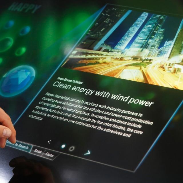 Bayer MaterialScience Messe K interaktive Exponate