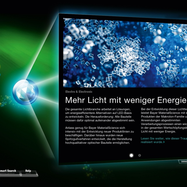 Bayer MaterialScience Messe K interface Design
